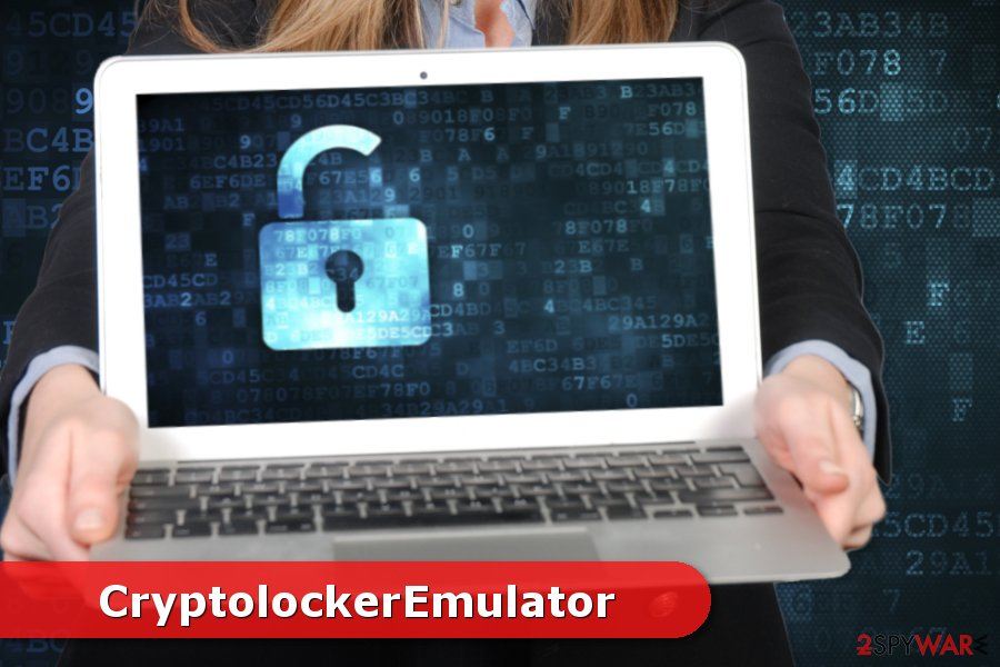 Illustration of CryptolockerEmulator ransomware virus