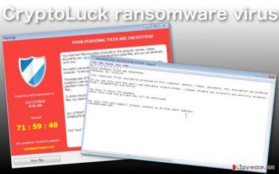 Image of the CryptoLuck virus