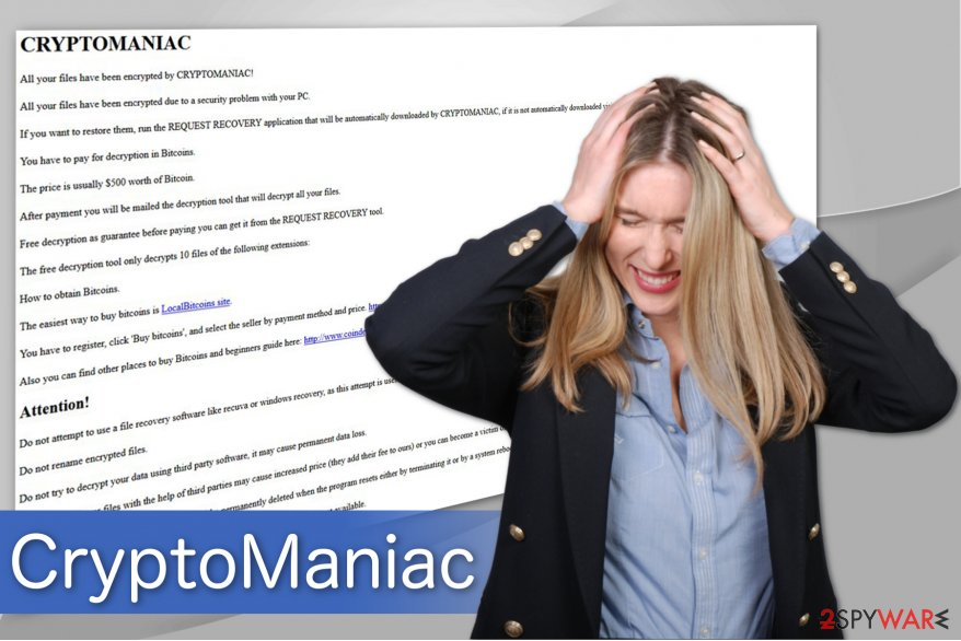 The image of CryptoManiac ransomware