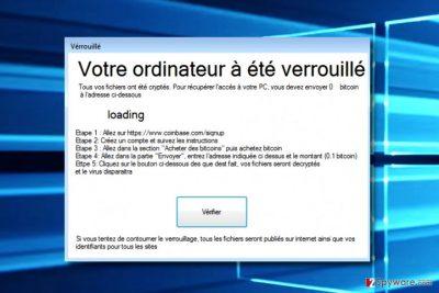 Screenshot of CryptoMeister virus
