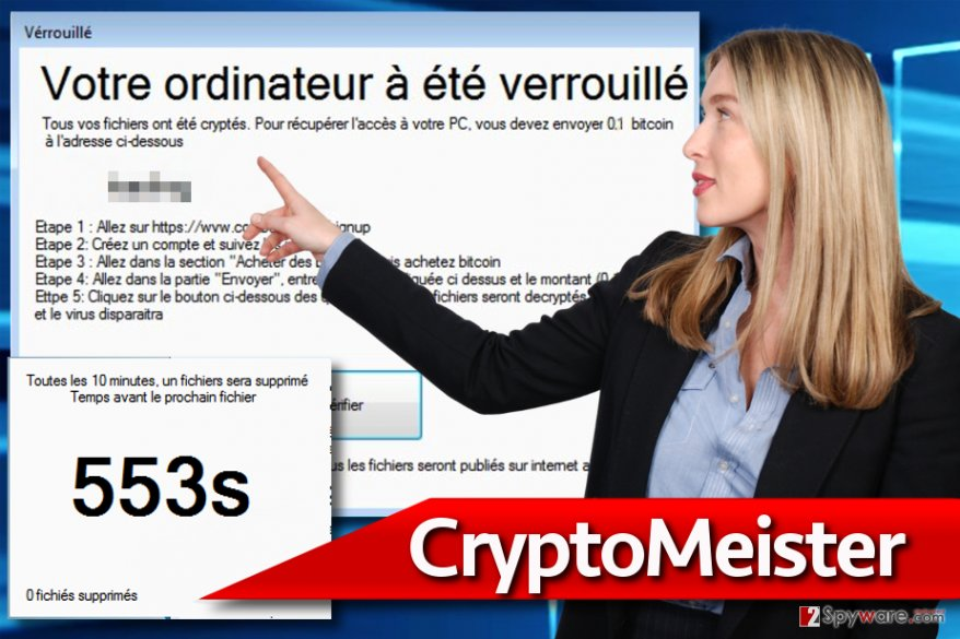 CryptoMeister ransomware in action