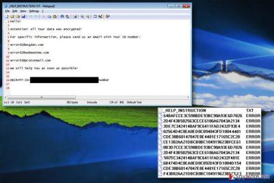 Error ransomware virus