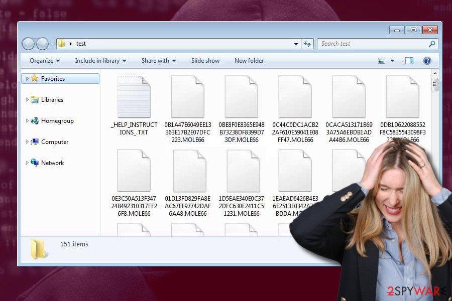 Mole66 CryptoMix ransomware variant