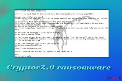 Cryptor2.0 ransomware