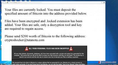 The ransom note of CryptoShocker