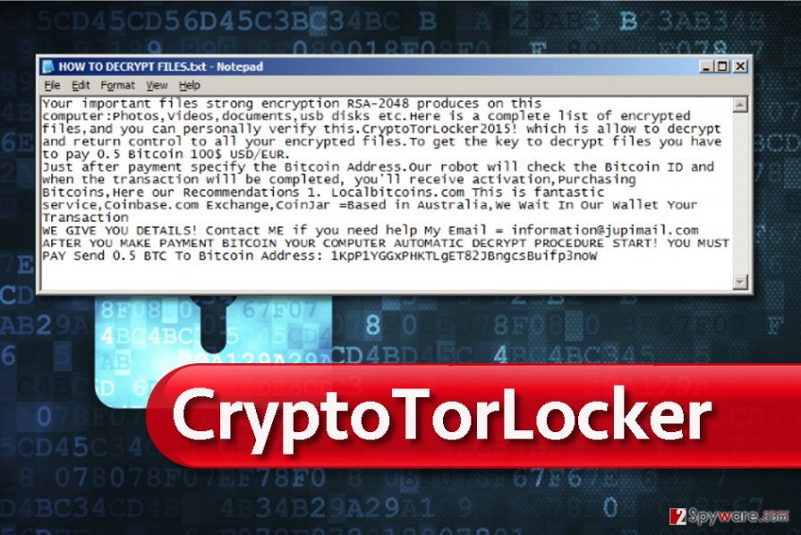 CryptoTorLocker ransom note