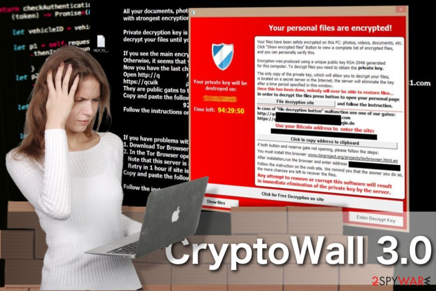 Image of the CryptoWall ransomware virus