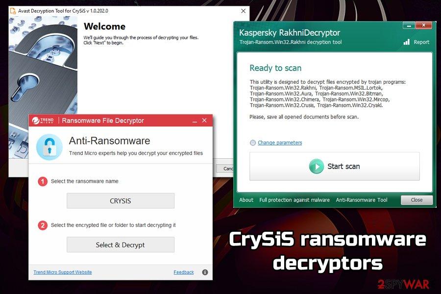 CrySiS ransomware decryption tools