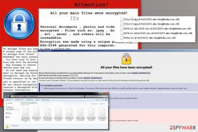 Examples of Crysis ransomware