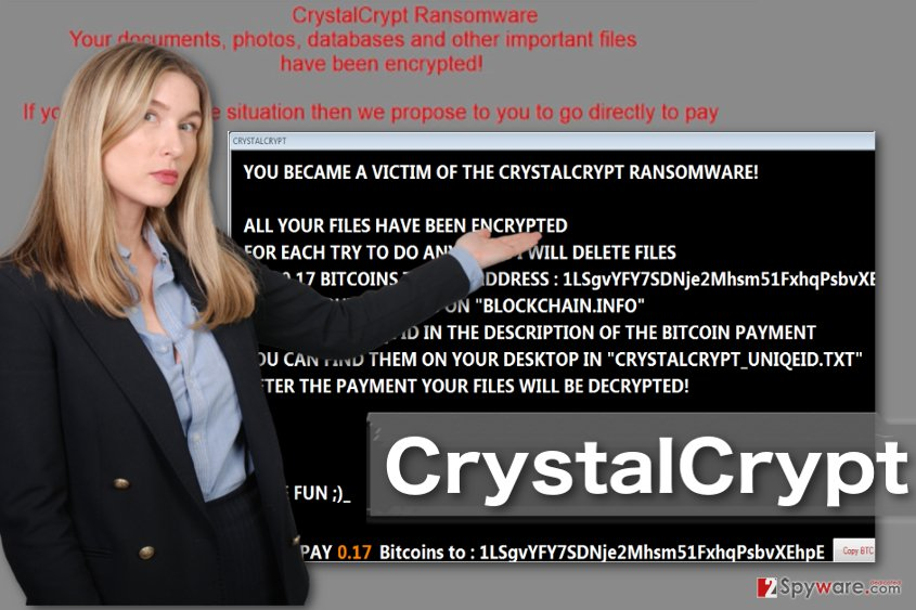 Image displaying CrystalCrypt ransomware