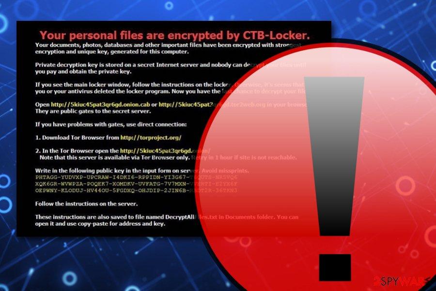 CTB Locker ransomware