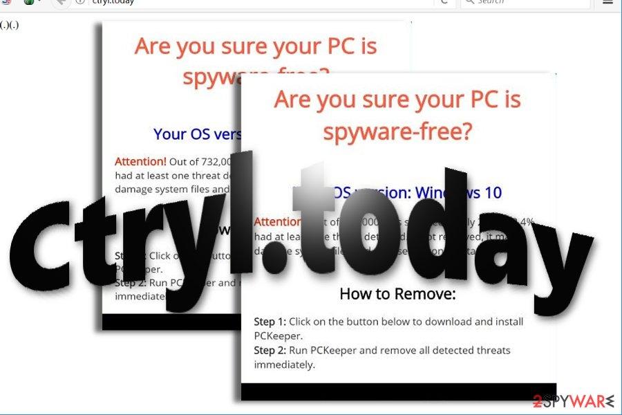 The image displaying Ctryl.today virus