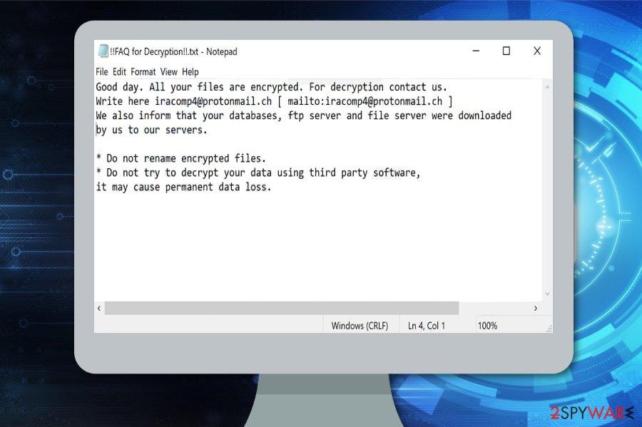 Cuba ransomware virus