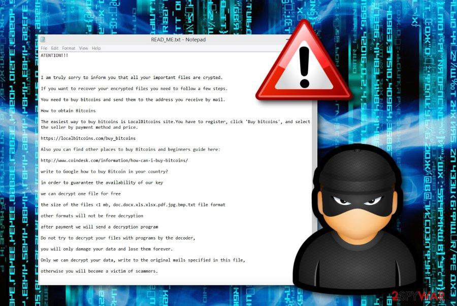 Cube ransomware virus