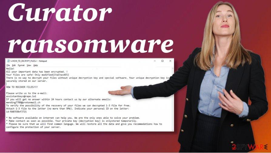 Curator ransomware virus