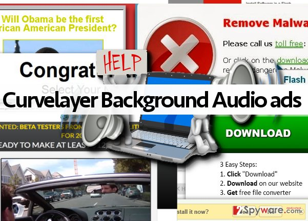 Curvelayer Background Audio ads