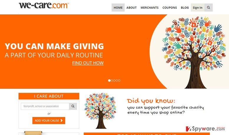 CWA Donation Slider adware snapshot