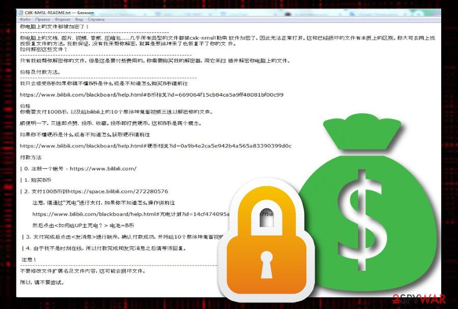 CXK-NMSL ransomware virus