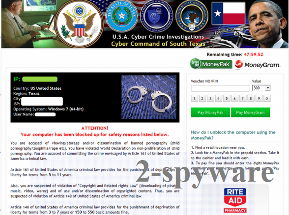 Cyber Command of South Texas virus snapshot