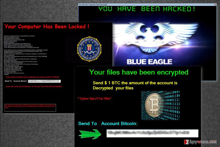 The picture of Cyber SpLiTTer Vbs virus