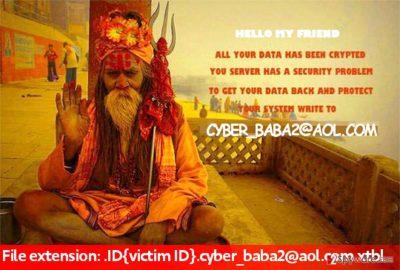 Cyber_baba2@aol.com ransomware virus