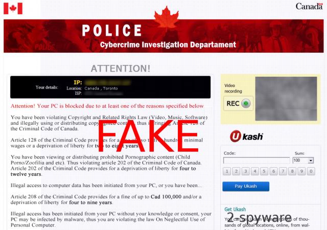 Cybercrime Investigation Department virus