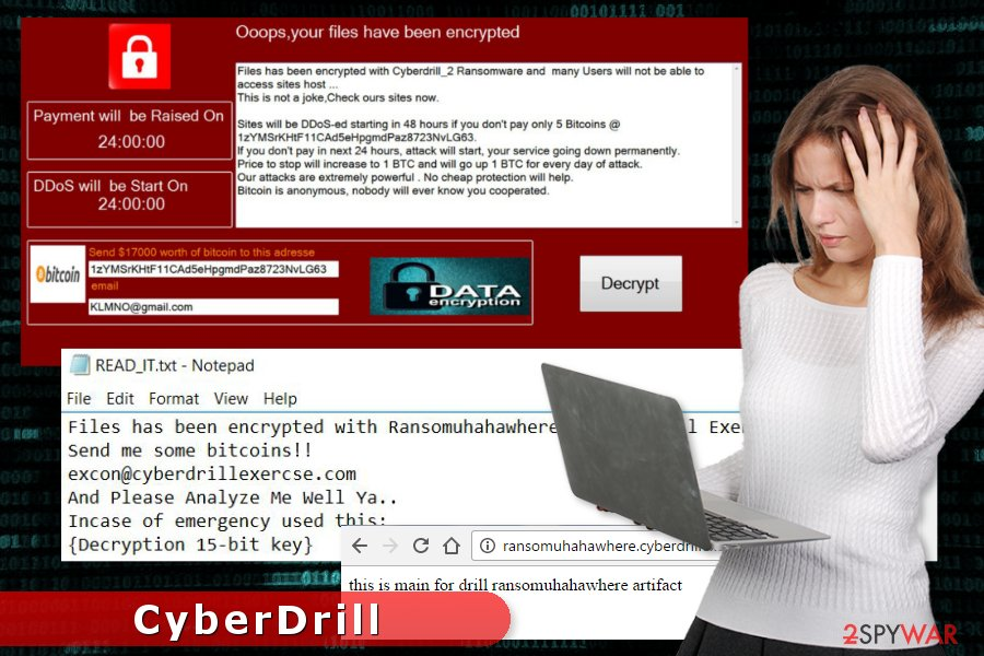 CyberDrill ransomware virus attack