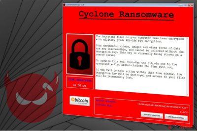 Cyclone ransomware illustration