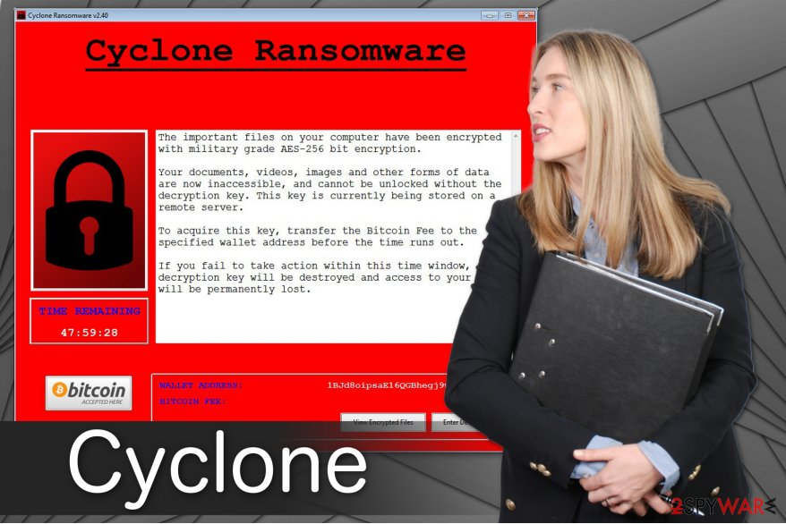 Cyclone ransomware image