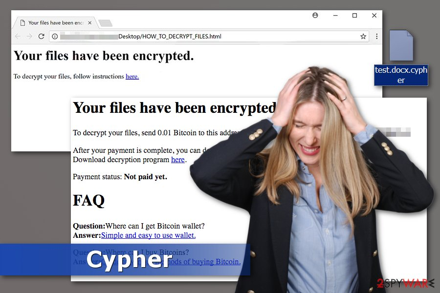 Picture of Cypher ransomware virus