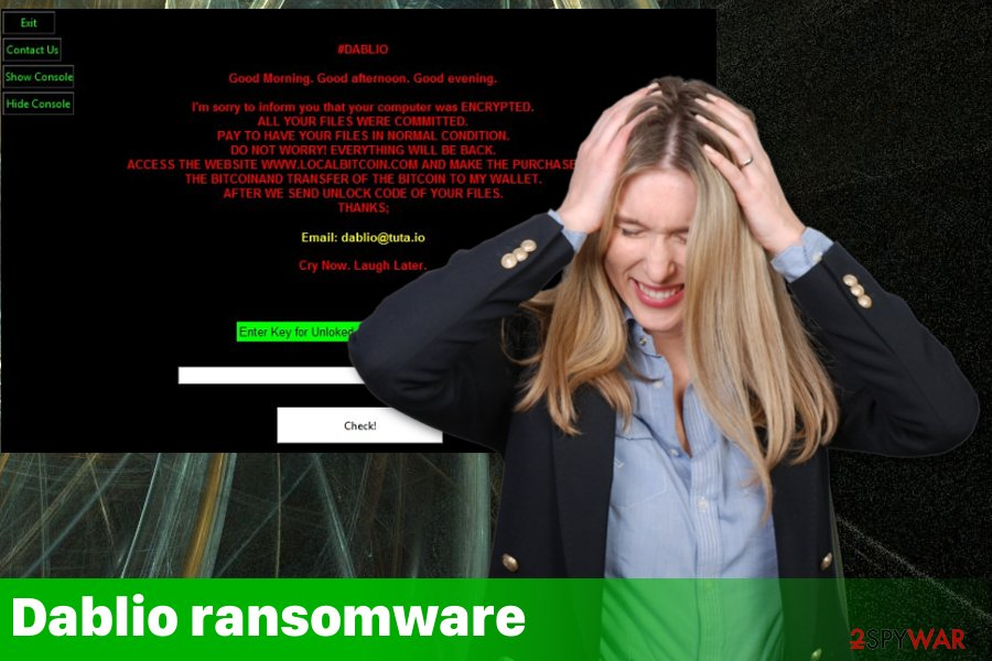 Dablio ransomware virus