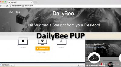 The download page of DailyBee adware