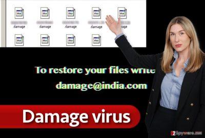 Damage ransomware virus