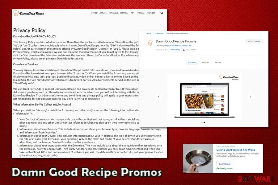 Damn Good Recipe Promos data gathering