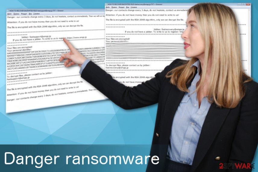 Danger ransomware virus