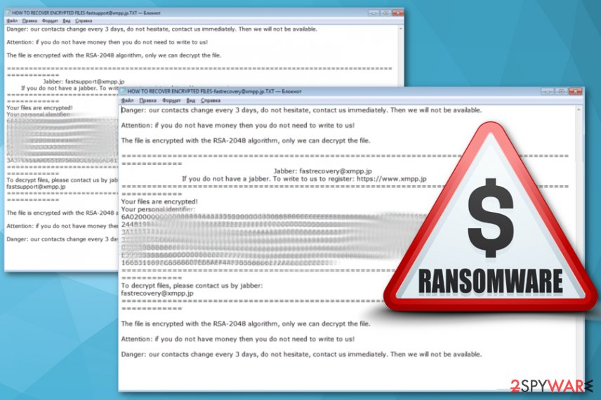 Danger ransomware