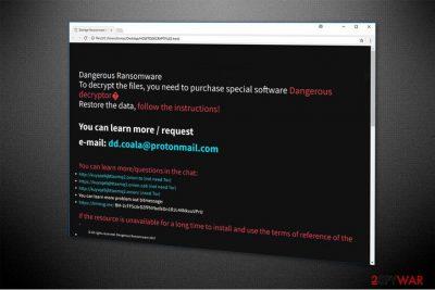 Dangerous ransomware image