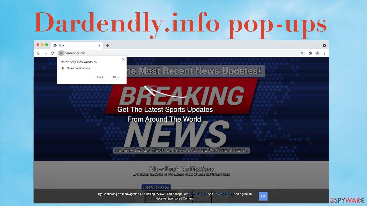 Dardendly.info pop-ups