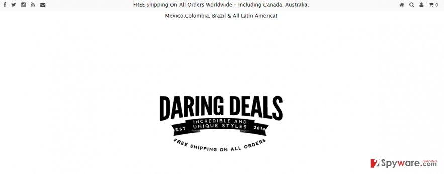 Daring Deals Ads snapshot