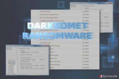 The screenshot of DarkKomet