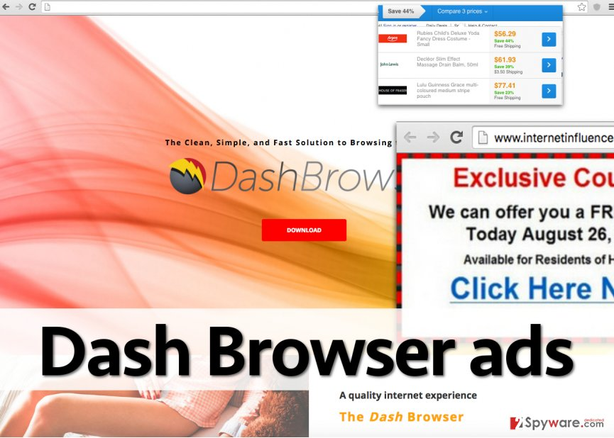 Ads by Dash Browser