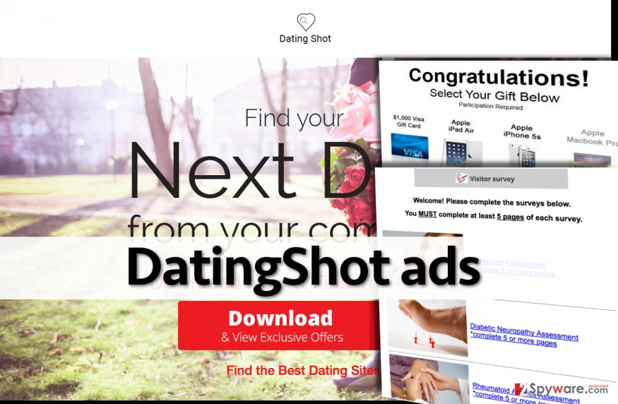 The official page of DatingShot adware