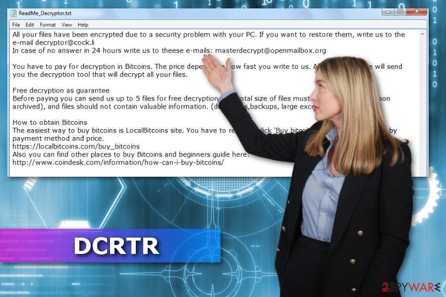 DCRTR ransomware virus