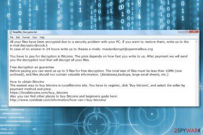 DCRTR ransomware