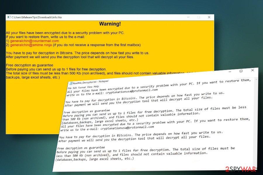 DCRTR Rhino ransomware variant