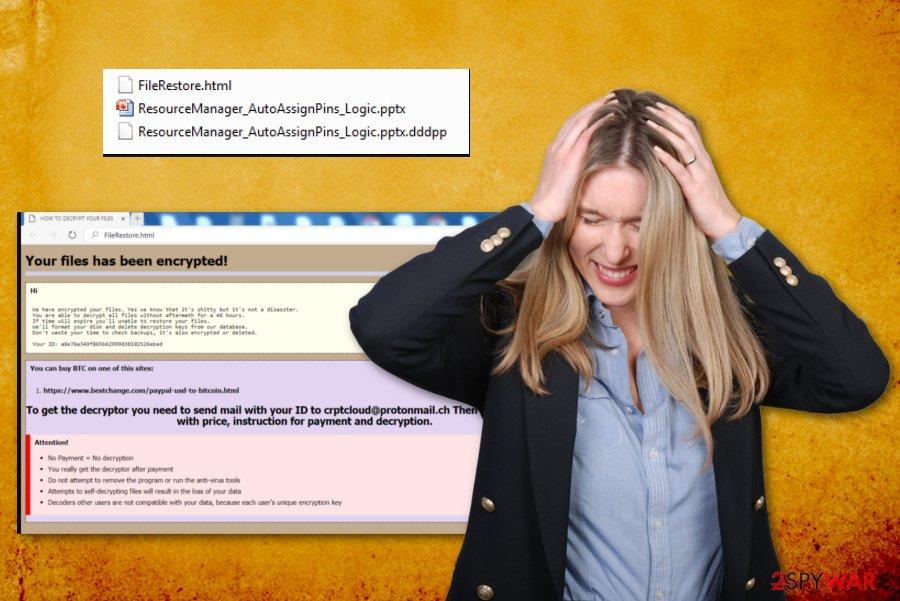 DDDPP ransomware virus