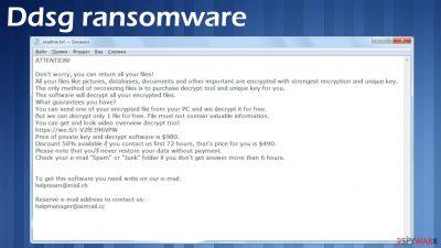 Ddsg ransomware
