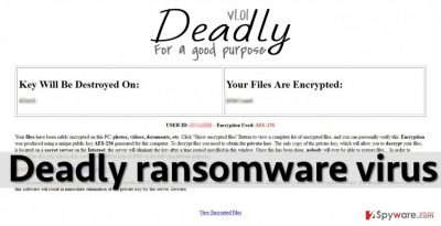 Image showing Deadly virus' ransom note