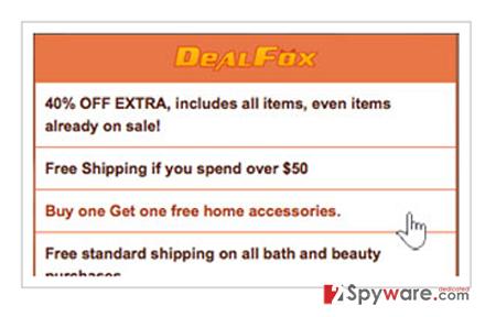 Deal Fox ads snapshot