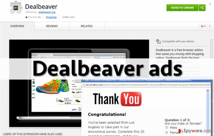 Ads by Dealbeaver can annoy you